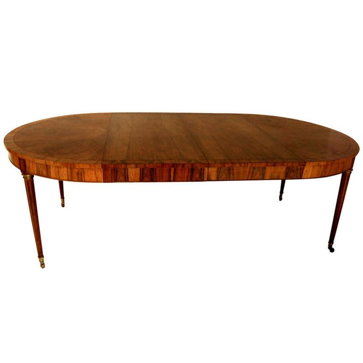 Baker rosewood round extended dining table dining room for Round table 85 ortenau