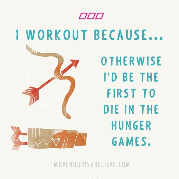 I'm not working out, I'm training for the zombie apocoalypse. Hahaha apocoalypse :) | Move Nourish Believe