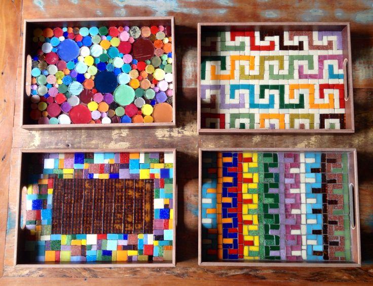 Bandejas em mosaico, by Schandra Mosaic