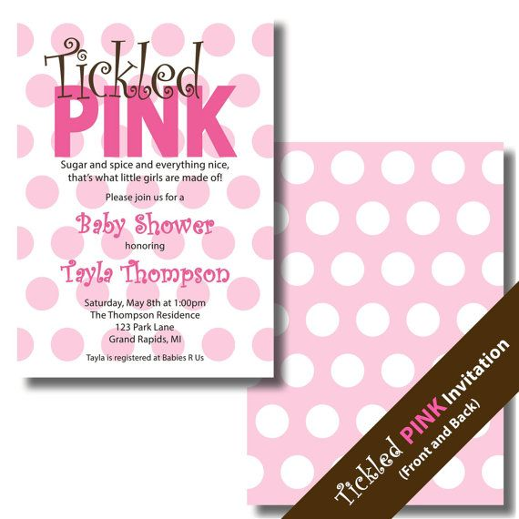 Tickled Pink Invitation is adorable invitations template