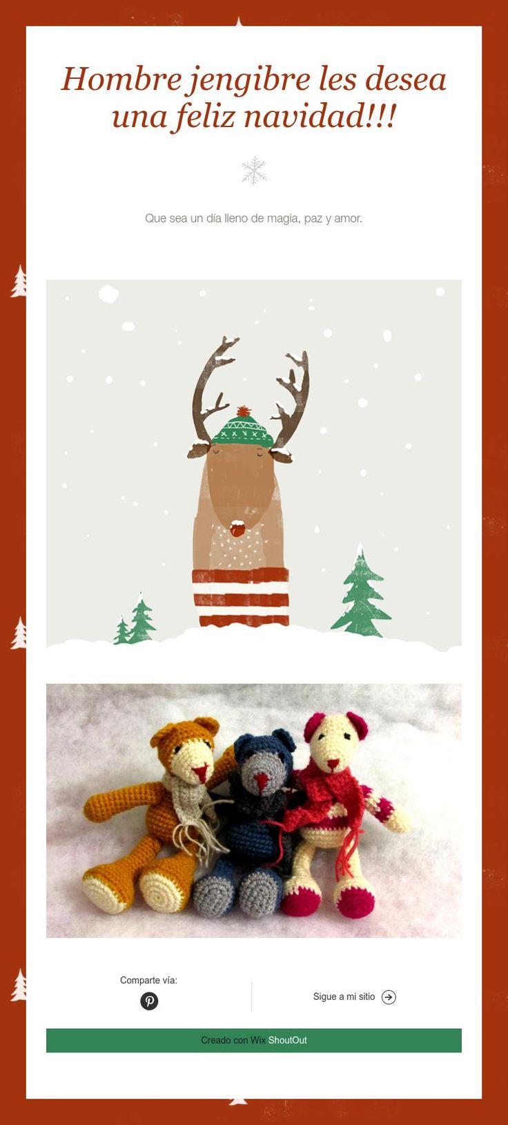 Hombre jengibre les desea una feliz navidad!!!