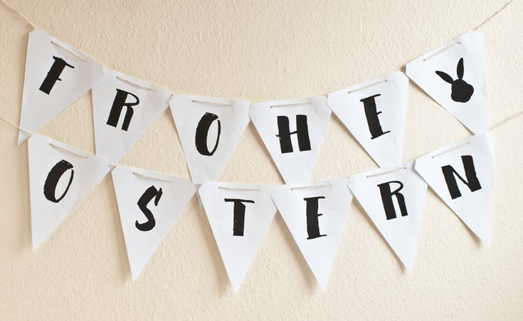 Oster Girlande basteln ♥ osterhasen girlande vorlage ♥ Bastelideen für Ostern ♥ miomodo DIY Blog über Geschenke, Freebies und Do it Yourself Ideen