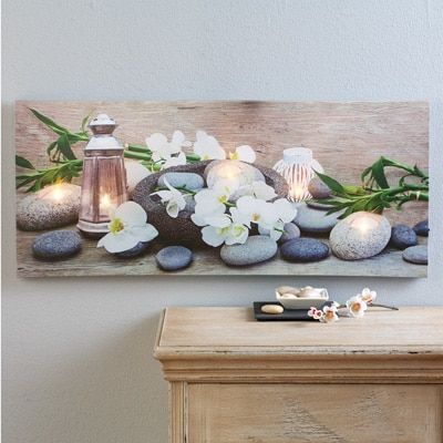 Lighted Orchid Canvas Wall Art  http://www.collectionsetc.com