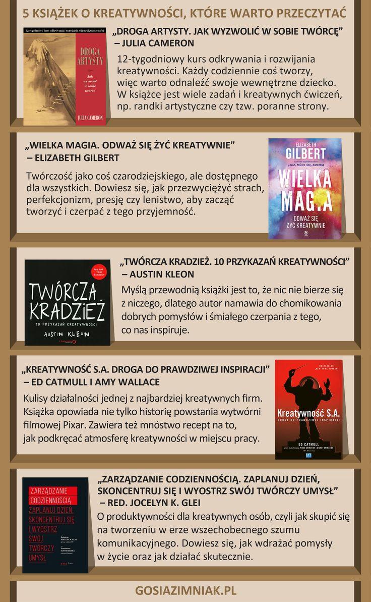 5 książek o kreatywności, które warto przeczytać #books #książki #kreatywność