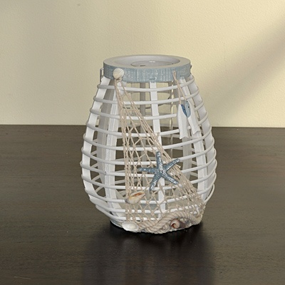 Nautical Candle Lantern     List $27.99   SKU 115192Large   9inches highx 7inches in diameter    List $21.99   SKU 115193Small   7.5inches highx 5inches in diameter