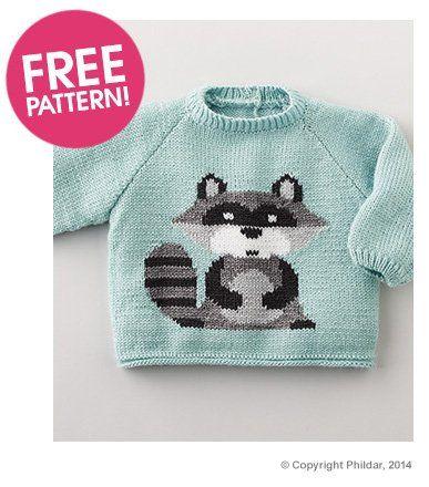 Phildar Raccoon Jumper Pattern | Deramores, shartime limited.