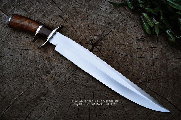 Sean Austin personalizada hecha a mano Bowie Cuchillo de acero D2 militar táctica del cuchillo de caza • $ 115.00 - PicClick