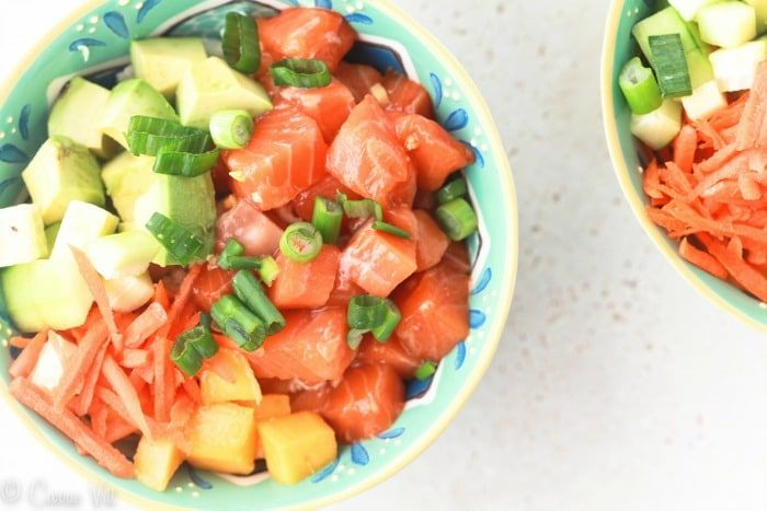 Poke bowls are a fun and healthy meal that lets everyone in the family choose their own toppings!