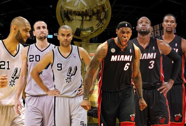 Spurs Big 3 vs. Heat's Big 3 in the 2013 NBA Finals