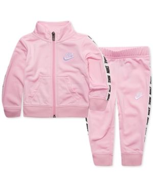 161b20b28a2c Nike Toddler Girls 2-Pc. Tricot Track Jacket   Pants Set - Pink 2T ...