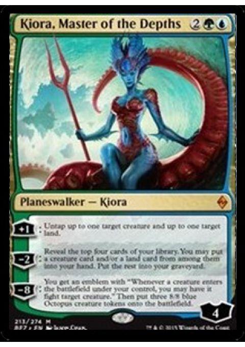 X4 MTG Battle for Zendikar Kiora, Master of the Depths LP/NM #WizardsoftheCoast
