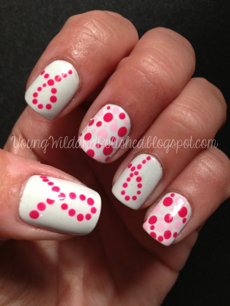 Young Wild and Polished...these would be great for Breast Cancer Awareness Month!