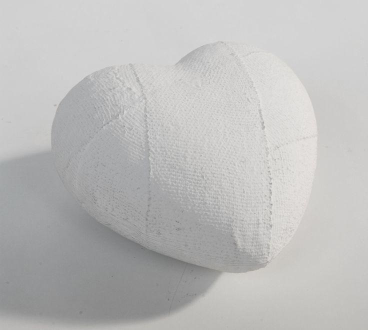 fermacarte cuore ingessato. cm.11x12.