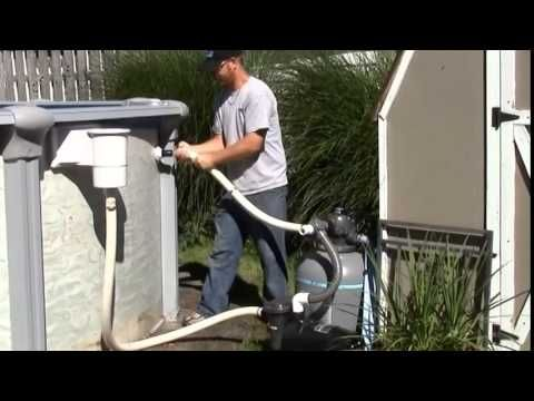 2014 Eliminator Above Ground Winter Pool Cover Installation - YouTube