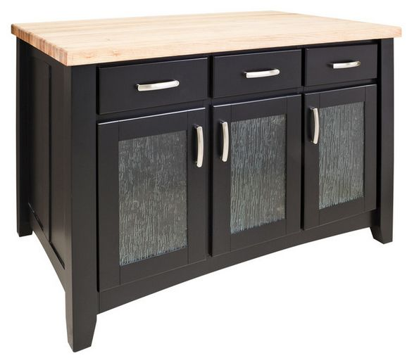 Painted Black Island with Three Drawers/Cabinets  Click here to purchase: http://www.houzz.com/photos/16935269/lid=6926220/Painted-Black-Island-with-Three-Drawers-Cabinets-traditional-kitchen-islands-and-kitchen-carts