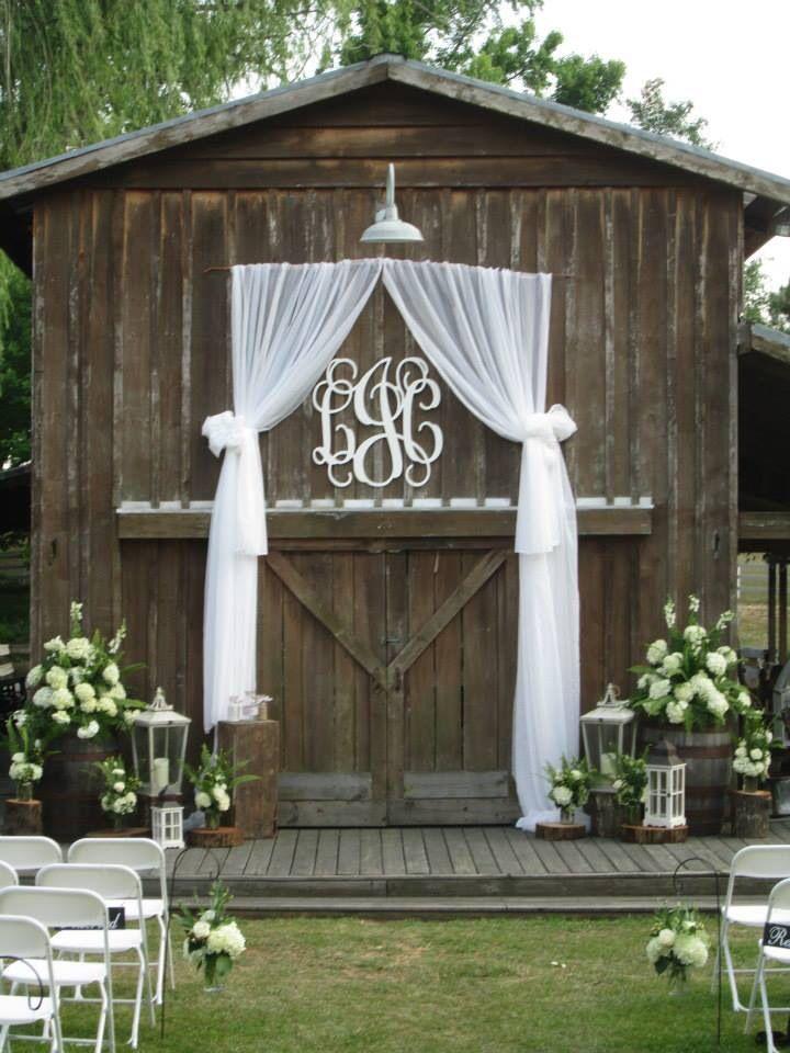 Outdoor Wedding Monogram