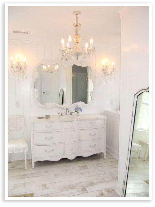 67 best dresser 39 s into vanities images on pinterest. Black Bedroom Furniture Sets. Home Design Ideas