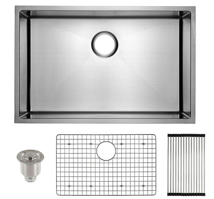 Best Gauge For Kitchen Sink 25 best 50 best undermount kitchen sink images on pinterest frigidaire undermount stainless steel kitchen sink 10mm radius corners 16 gauge deep basin workwithnaturefo