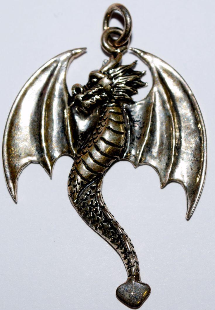 Dragon Open Wings Dragon Pendant