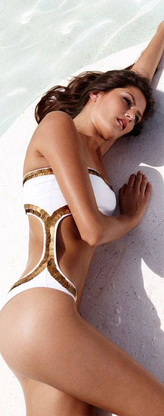 Style for Summer: stunning gold trim swimsuit by Melissa Odabash