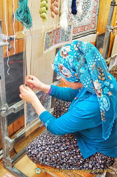Silk carpet weaving in Cappadocia