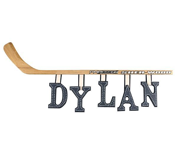 Hockey Stick Wooden Wall Letters (priced with 3 letters) sports nursery decorations
