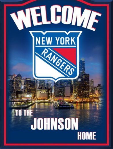 New York Rangers Personalized Welcome Sign