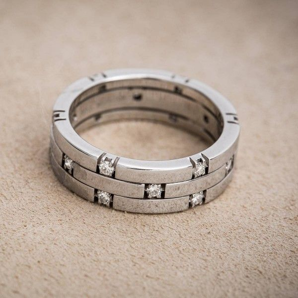 Awesome Vintage k Gold and Scattered Diamond Anniversary Band http h