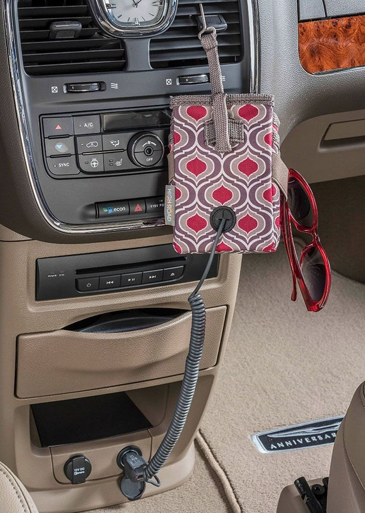 High Road Organizers Car Cell Phone Holder and Charging Station