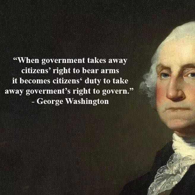 When government takes away citizens' right to bear arms it