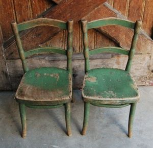 chippy green chairs