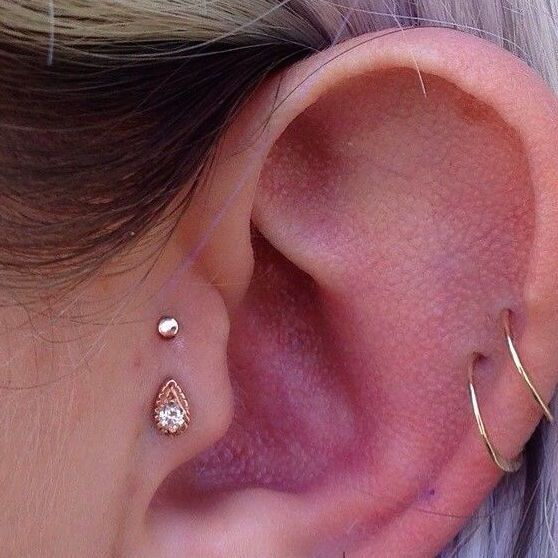 Double tragus piercing
