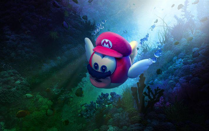Download wallpapers 4k, Super Mario Odyssey, 2017 games, Nintendo