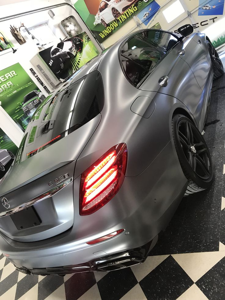 gray Mercedes Benz E63 with a matte finish! This