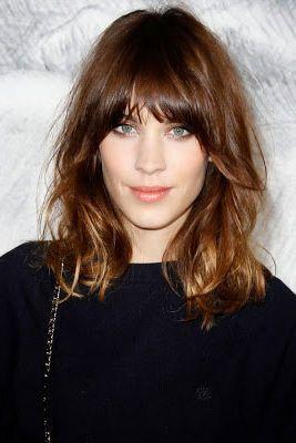 Medium length hair style for straight hair