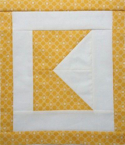 Letter K - free alphabet quilt block tutorial