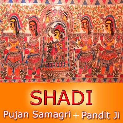 Shadi Puja Package at just Rs. 8501/- Book Now at Easypuja.in    In Hindu Philosophy Vivah (Marriage) is one of the 16 Sanskara  (teachings) on an Individual.  It is performed in order to repay the debt of God & Fore fathers.  Marriage brings two families together. It is a serious commitment of a man & a woman towards each others towards the well being of their own selves and family.  Husband & wife form the wheels of the Chariot of their life.
