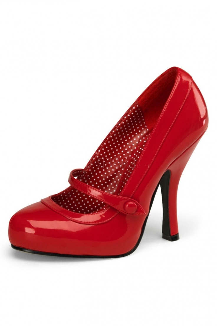I love these Red Mary Jane pumps.  I would buy them in a second if I knew how to wear high heels or wasn't taller than everyone in the room with them on.   Dutch company. Pinup Couture - Pinup Couture - 40s Cutiepie Mary Jane Lipstick red platform lak pumps PINUP COUT