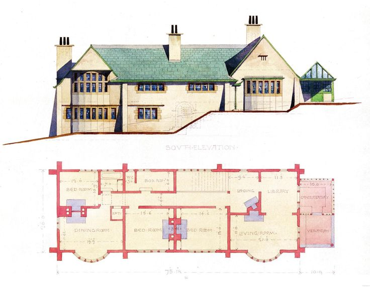 112 best images about c f a voysey architect on pinterest for Residential architectural drawings