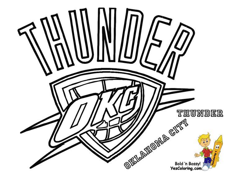 Thunder Basketball Logo | Oklahoma City Thunder Coloring To Print at Yes Coloring