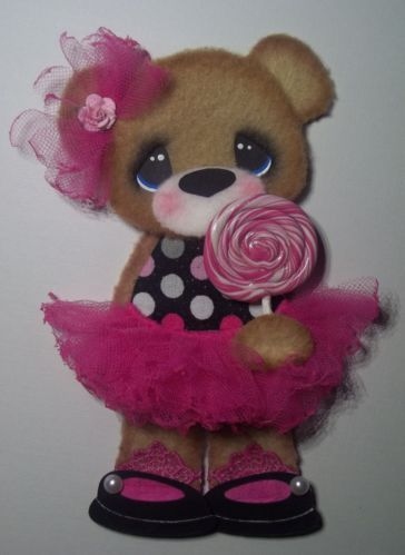 ELITE4U Tear Bear Girl Pink Tutu Paper Piecing Scrapbook Card Album | eBay