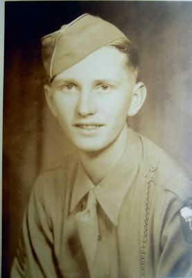 SSG Earl R Adams Squad leader Fox Company 291st Infantry Regiment, part of the US 75th Infantry Division