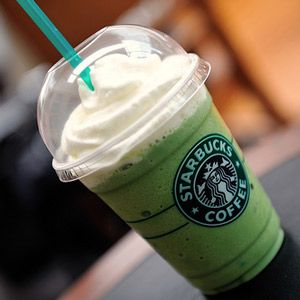 The Bucks hack - Starbucks Thin Mint Frappuccino-Tazo Green Tea Creme Frap / 2 Pumps Chocolate Syrup / 1 Pump Mint Syrup / Java Chips / Honey