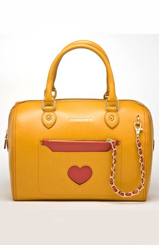 Love Moschino bag Large bag with detachable red wallet/clutch, with chain. Heart-shaped opening. 30 cm width. 100%POLYURETHANE Code: JC4317PP0ZKM1