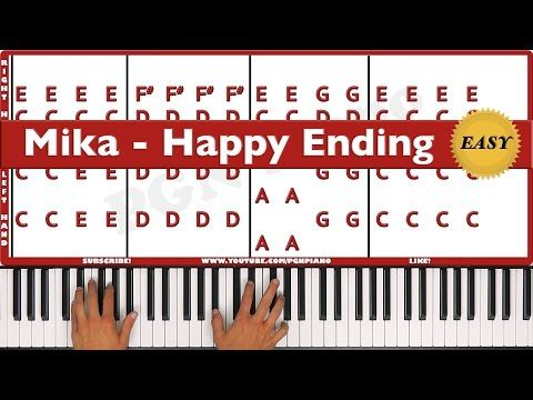 ♫ EASY - How To Play Happy Ending Mika Piano Tutorial Lesson - PGN Piano - YouTube