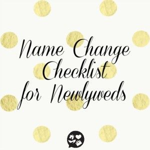 A name change checklist to help you make the process a tad bit easier! There are so many things to change and the order you change them in is important! Pin now read later.