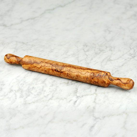 Gift Idea Handcrafted Olive Wood Rolling Pin 15 by Beldiworkshop, $39.00