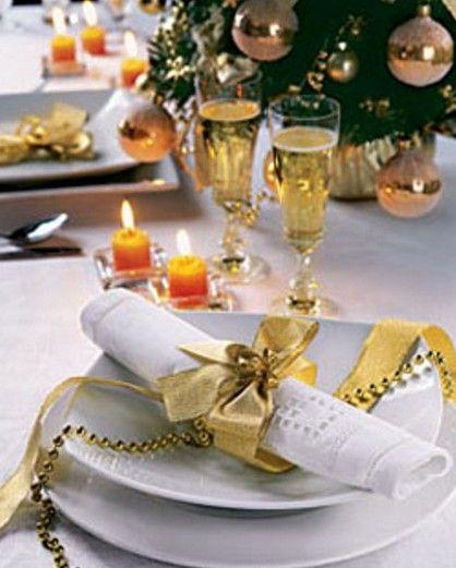 Christmas table decor photo