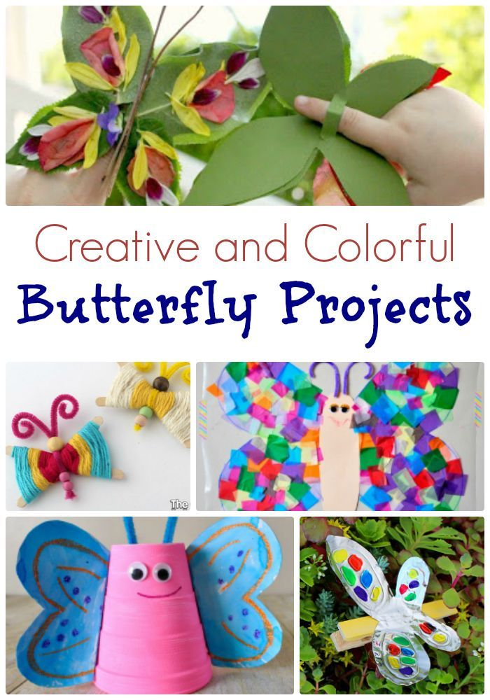 Butterfly Preschool Craft Projects Let's celebrate the coming of spring and summer with these creative and colorful butterfly preschool craft. Use this craft in areas of learning.