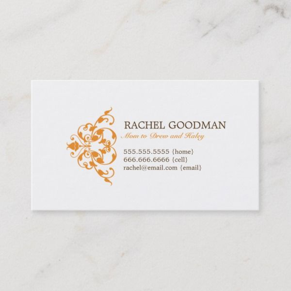 Modern Floral Mommy Card Personal Calling Card Zazzle Com